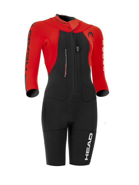 Head W's Swimrun Rough Shorty Suit Black-Red